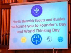 Founder's Day service screen