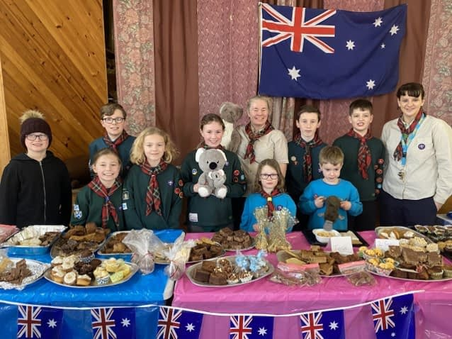 21st Midlothian Newtongrange raise money for Australia