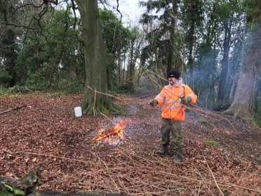 Salmonberry clean-up by Pink Panther and Cramond Explorers