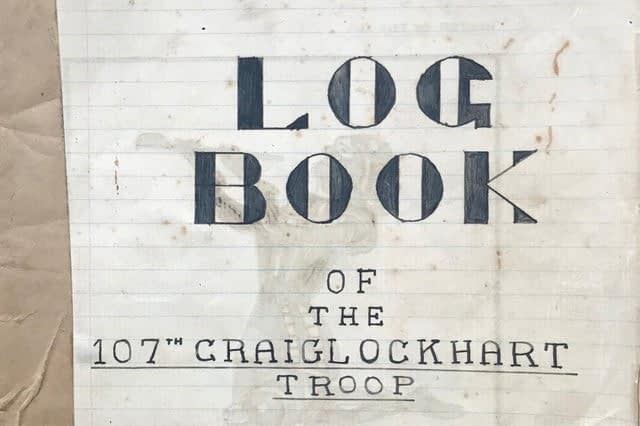 Picture of extracts from the 107th Craiglockhart logbook