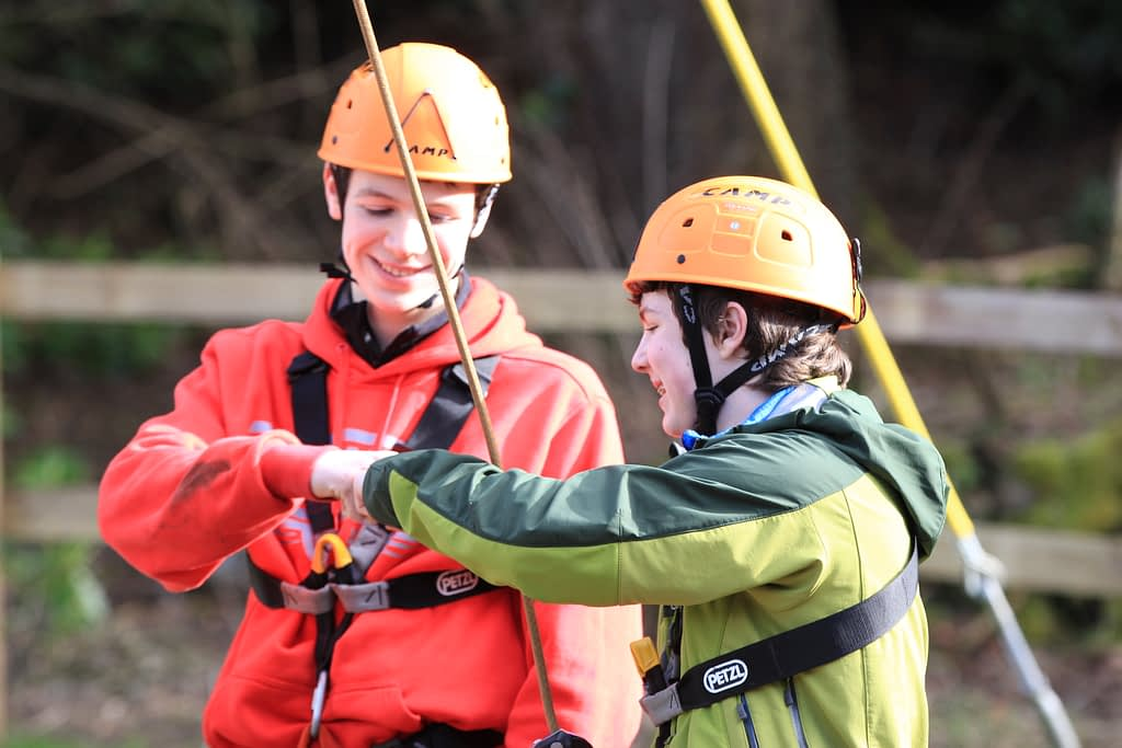 Two Explorer Scouts at Bonaly