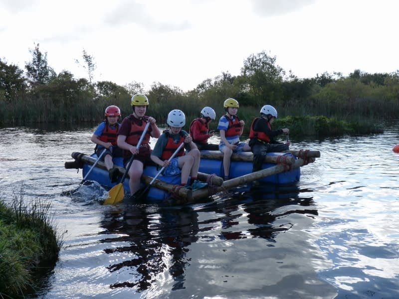 Scouts raft building