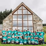 Gorebridge Scouts and Explorers in front of the Bunkhouse