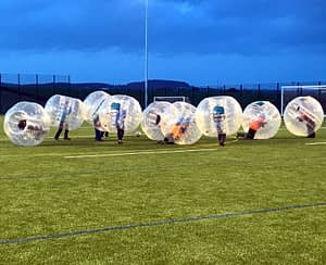 Bubble football at Kelso