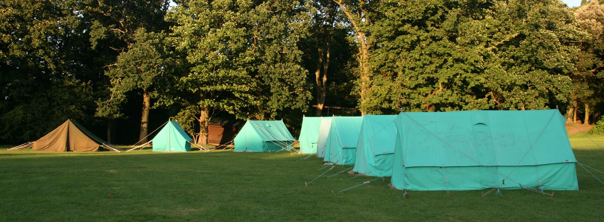 Traditional tents at Bonaly