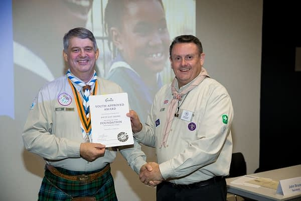 Martin Browne receives Region's Youth Approved Foundation Award