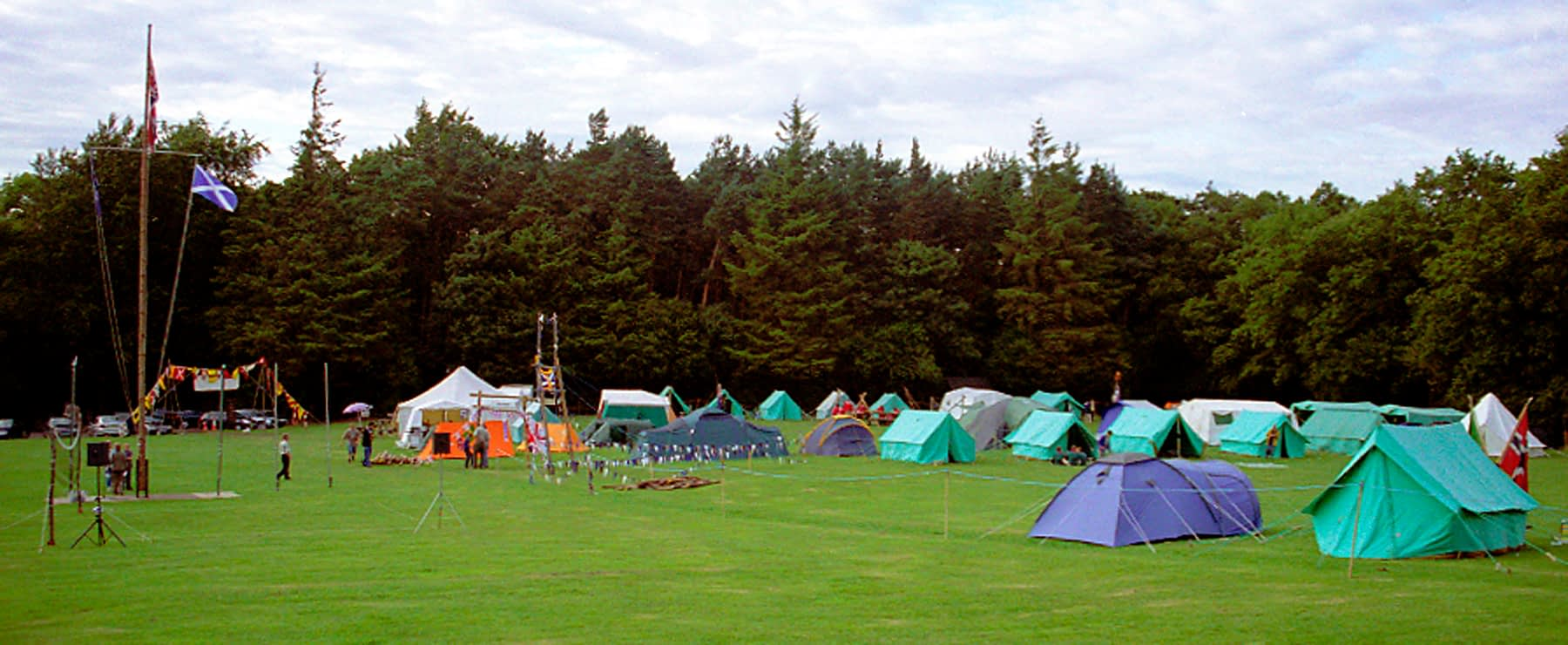 Camping event at Bonaly