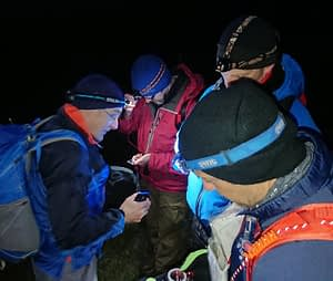 Night navigation in the hills