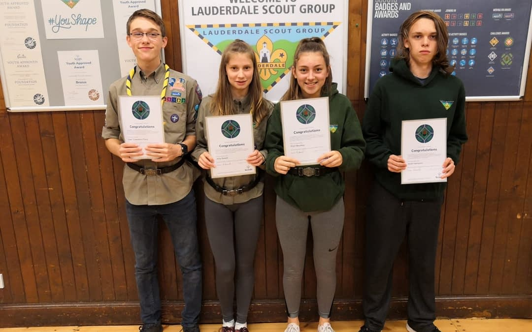 Congratulations to Lauderdale Explorer Scout Young Leaders