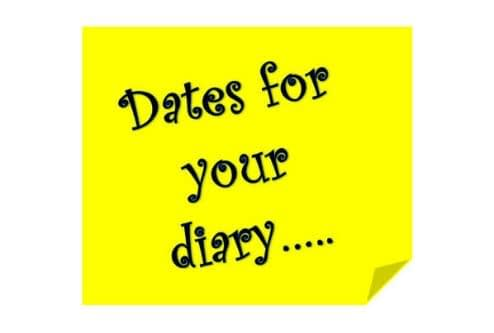 Dates for the Diary in 2020