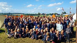 Scottish and Danish Scouts together