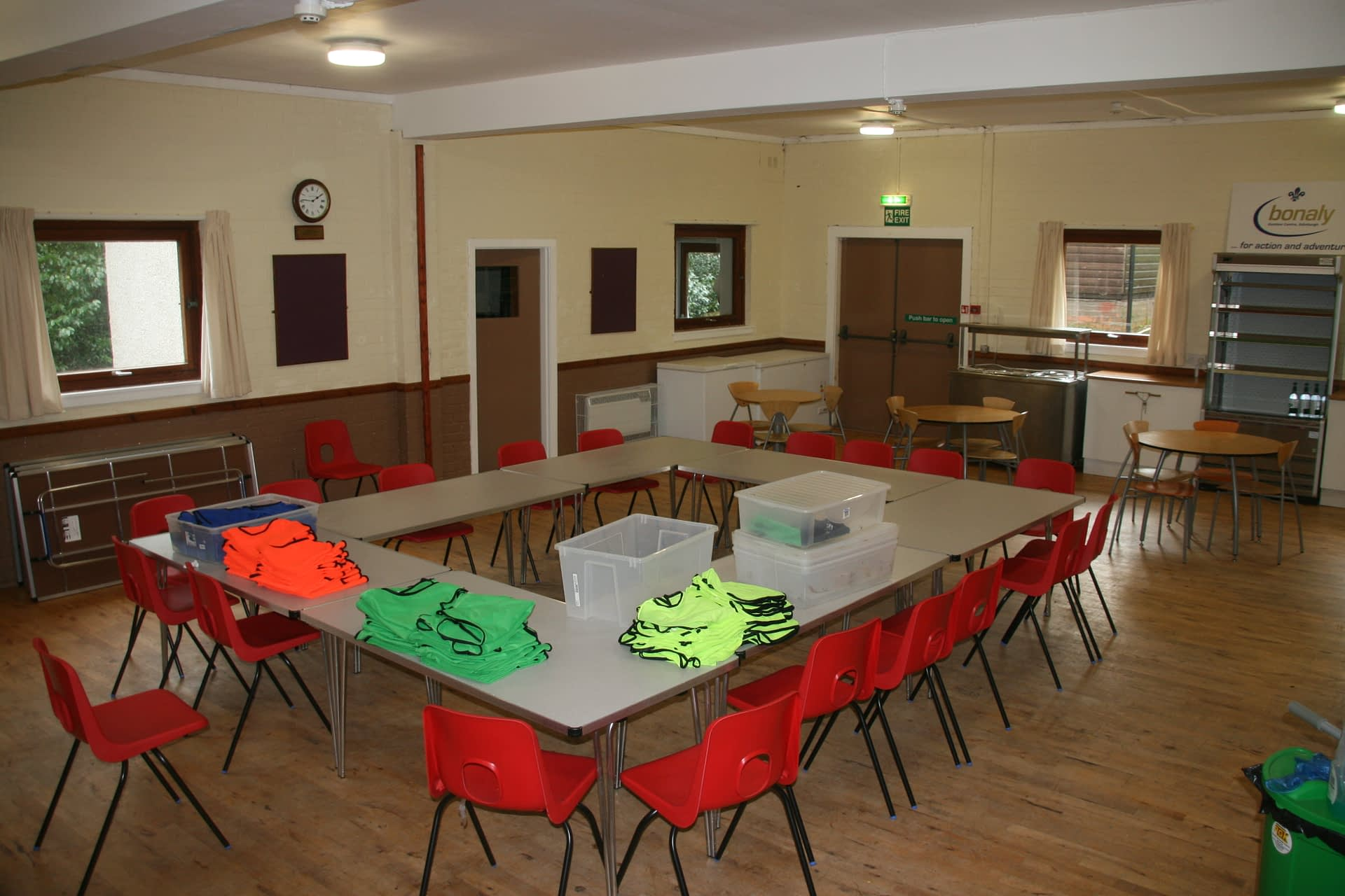 Chalet dining hall at Bonaly