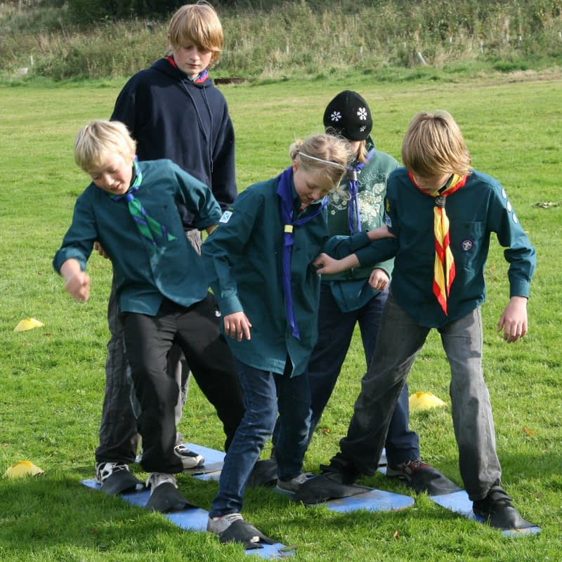 Scouts enjoy team-building game at Bonaly
