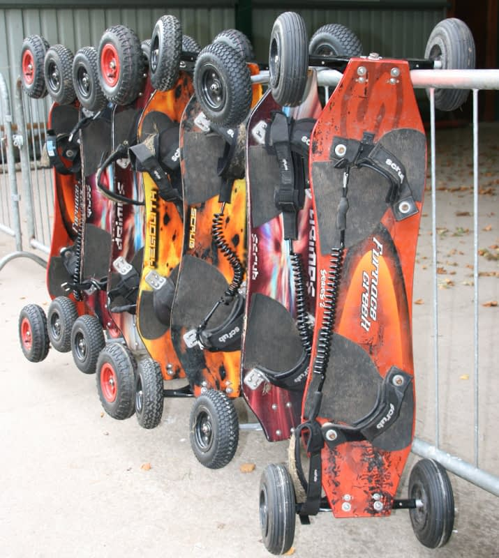 Mountain boards ready for action at Bonaly